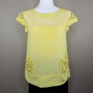 MARC by MARC JACOBS yellow silk lattice blouse